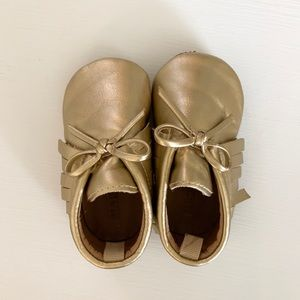 Old Navy Baby Gold Moccasins 6-12M